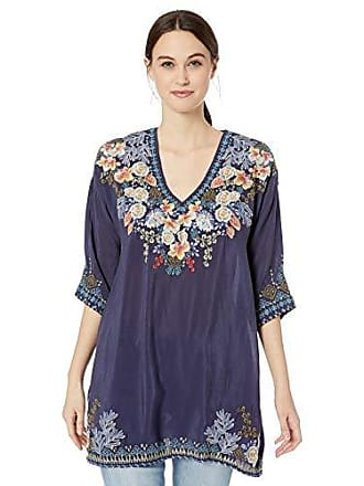 c73cce1b5b602 Johnny Was Womens 3 4 Sleeve V-Neck Embroidered Tunic