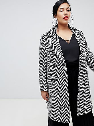 Vero Moda Curve Boucle Double Breasted Coat - Gray