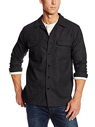 62525475f Pendleton Mens Big & Tall Long Sleeve Board Shirt, Black Flannel-20042, XL