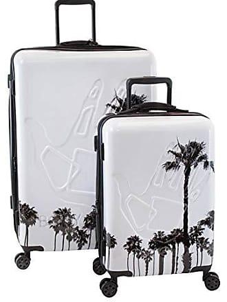 Body Glove Redondo White Palm Trees 2 Piece Hardside Spinner Luggage Set 9e8ad7e587672