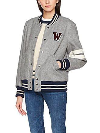 d91cf97b23 Wrangler Wool Baseball Blouson, Gris (Mid Grey Mel 37), X-Small