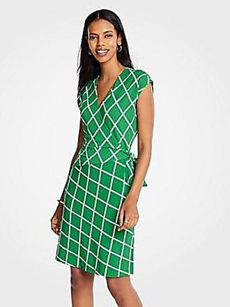 ANN TAYLOR Lattice Knit Wrap Dress