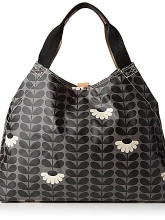 Orla Kiely Womens Large Holdall Top-Handle Bag Black (Jet)