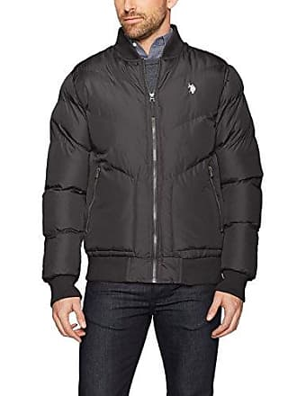 U.S.Polo Association Mens Standard Quilted Jacket, Black 5985, 2X