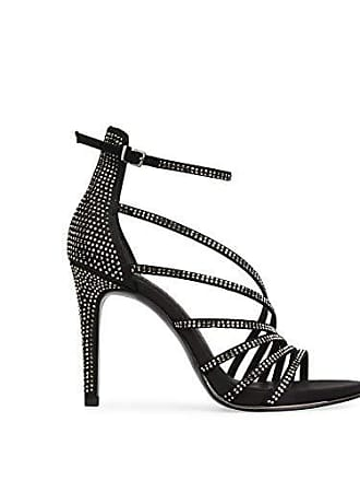 12ce44009bc5 Kenneth Cole Barletta Rhinestone Strappy Stiletto Sandal Black