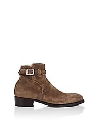 Harris Mens Waxed Suede Jodhpur Boots - Beige/Tan Size 8.5 M