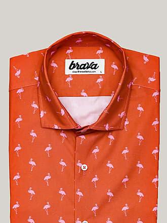 Brava Fabrics Magnum Flamingo Printed Short Sleeve Short Sleeve Shirt
