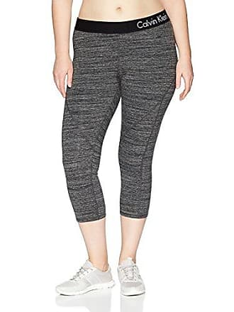 11e29c747f3e3 Calvin Klein Performance Womens Plus SizeLogo Elastic Seamed Crop Legging  Size, Cement Heather, 2X