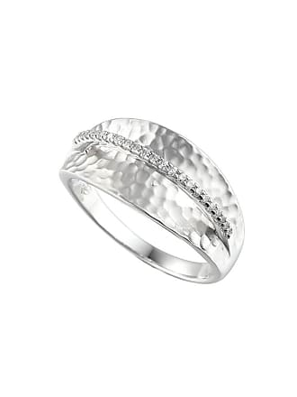 Amore Argento Rhodium Plated Sterling Silver Wembley Arch Ring - UK K 1/2 - US 5 3/8 - EU 51 1/4