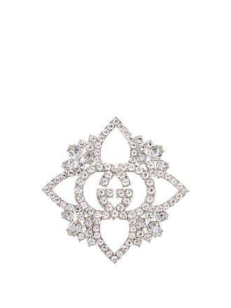 72223aade38 Gucci Gg Crystal Embellished Brooch - Womens - Crystal