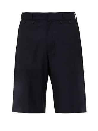 Jacquemus Le Marin Foldable Pocket Wool Shorts - Mens - Navy