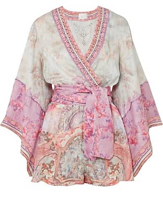 ad154db879 Camilla Embellished Printed Silk Crepe De Chine Playsuit - Pink