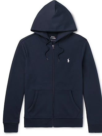 Polo Ralph Lauren Jersey Zip-up Hoodie - Navy