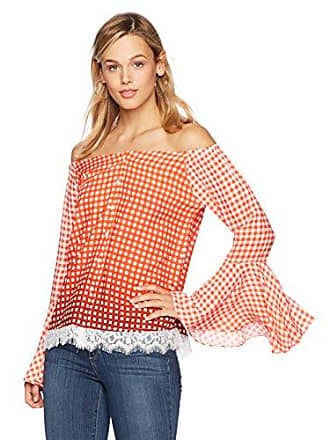 8a071b644aa4e3 Ella Moon Womens Destinee Long Sleeve Off-the-Shoulder Blouse With Lace Hem