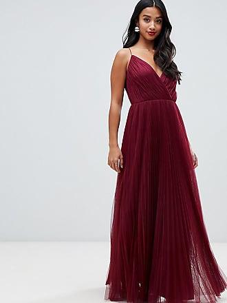 2d15226b13d Asos Petite ASOS DESIGN Petite cami pleated tulle maxi dress - Purple