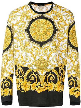 Versace Camiseta mangas longas com estampa - Amarelo