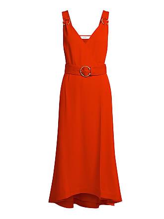 A.L.C. Haley V-neck Wrapped Midi Dress Red