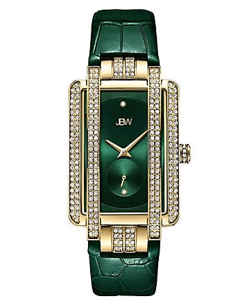 Zales Ladies JBW Mink Diamond Accent and Crystal 18K Gold Plate Strap Watch (Model: J6358L-E)