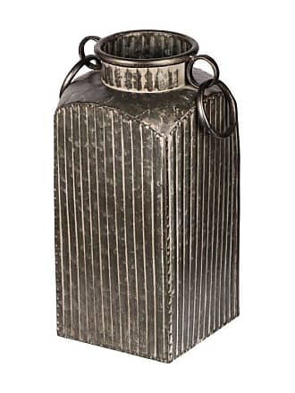 A & B Home Grey Metal Canister with Handles - D44214