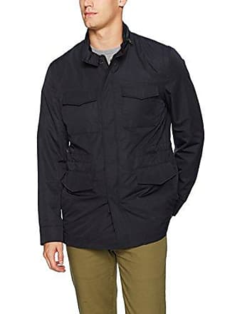 Bugatchi Mens Polyester Field Jacket, Navy, Small