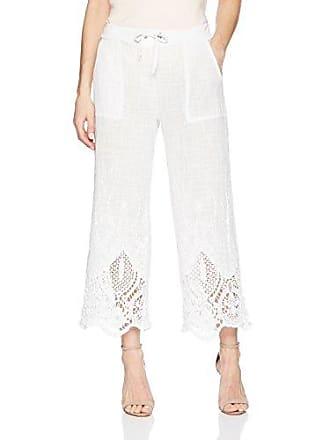Xcvi Womens Tangerine Pant-Meli Embroidered Gauze, White, Small
