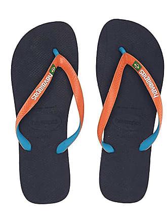 d7dc9a8bc8c Havaianas Brazil Mix Flip Flops (Blue Orange) Mens Sandals