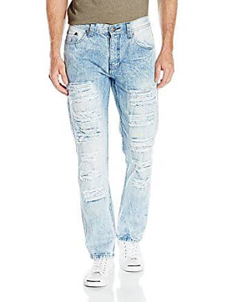 Southpole Mens Fashion Denim in Various Design (Ripped, Biker), Light Sand Blue(destructed ripped), 34x32