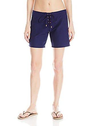 b233179243 Helen Jon Womens Essentials 7 Inch Lace-Up Board Short, Navy Solid, 6