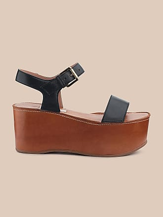 L'autre Chose WEDGE SANDAL IN TWO-TONE LEATHER