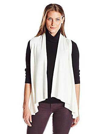 Karen Kane Womens Sweater Vest, Cream, Small