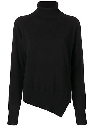 Zanone Suéter assimétrico com mangas raglã - Preto