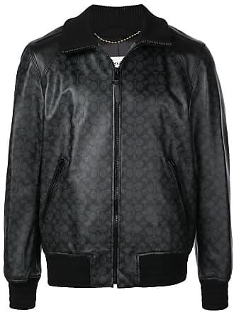 Coach logo print bomber jacket - Black