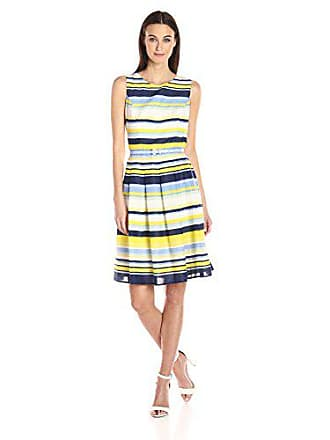 62687854aea827 Tommy Hilfiger Womens Sleeveless Belted lace fit and Flare Dress