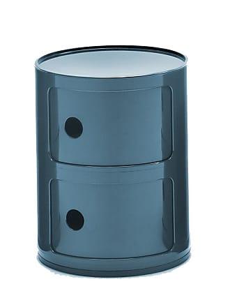 Kartell Componibili 2 Container - blau/glänzend/H 40cm/ Ø 32cm/Neue Farbe