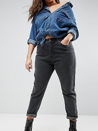 Liquor & Poker boyfriend jeans with stepped waist - Black