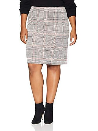 de2d96767f480 Nine West Womens Plus Size Knit Plaid Slim Skirt