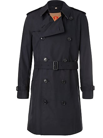 Burberry Kensington Double-breasted Cotton-gabardine Trench Coat With Detachable Gilet - Navy
