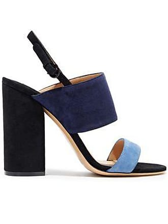 90ea494ea Salvatore Ferragamo Salvatore Ferragamo Woman Elba Color-block Suede  Slingback Sandals Navy Size 6
