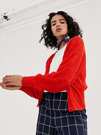 Vero Moda v neck button front cardigan - Red