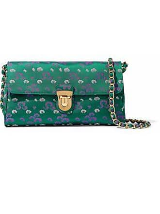 103f0f469 Prada Prada Unisex Floral-print Satin Shoulder Bag Green Size