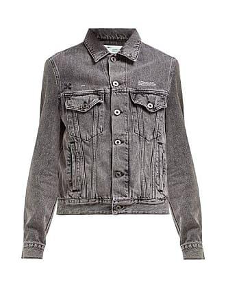 Off-white Off-white - Embossed Denim Jacket - Womens - Grey