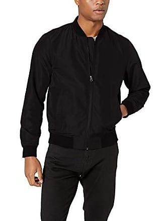 Amazon Essentials Mens Standard Lightweight Bomber Jacket, Black, X-Small