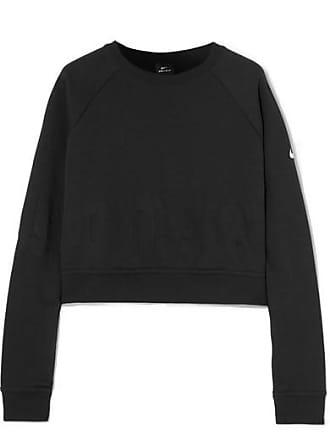 a636a3d40898 Nike Pro Versa Verkürztes Sweatshirt Aus Jersey Mit Prägung - Schwarz