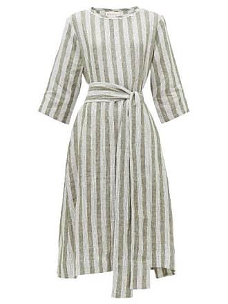 Wiggy Kit Nomad Striped Linen Dress - Womens - Green Stripe