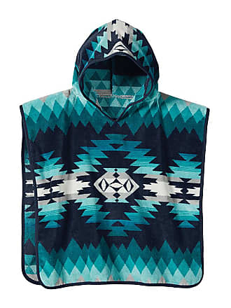 Pendleton Jacquard Hooded Childrens Towel - Papago Park Turquoise