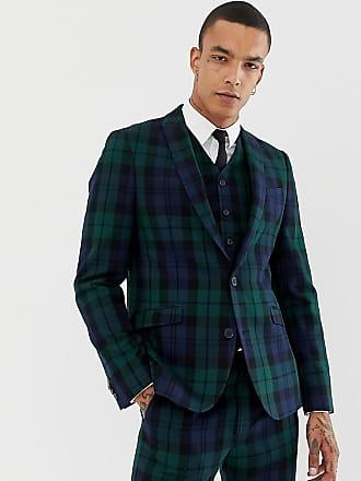 Heart   Dagger Giacca da abito slim a quadri Blackwatch - Verde 49c3c00777a