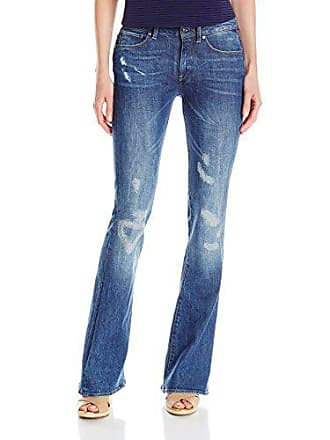 85df112fbd702 G-Star Raw Womens 3301 High Rise Flare Leg Jean In Hadron Stretch Denim  Medium