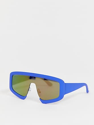 ff9b09dda4f3 Asos visor with green mirror lens and cobalt blue plastic detail