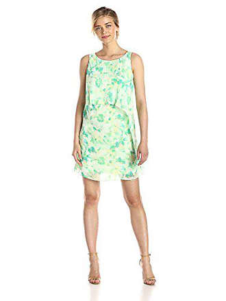 7c6037605678 S.L. Fashions Womens Floral Printed Tiered Dress, Green/Multi 6