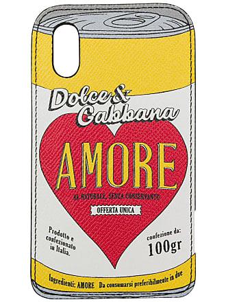 Dolce & Gabbana Capa para iPhone X de couro - Estampado
